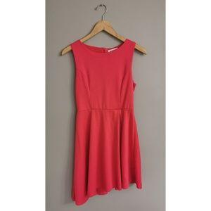 Monteau Red Asymmetrical Dress